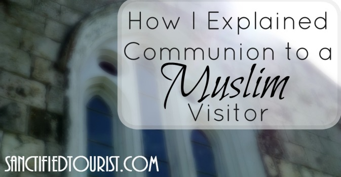 Jesus represents the Passover Lamb in this series on the Lord's Supper. Communion is more than just a nibble of bread and a sip of wine. Go symbolically deep with me y'all and see how I approached a curious Muslim visitor about communion.