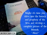 Finding the Jewish Messiah in the historical setting of the day is like finding out you have been grasping a handful of gold instead of the vast treasure that was meant for you. It's time to dive into SIMPLY JESUS by Tom Wright.