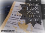 A letter to my fellow billion dollar lottery losers. Did you pray for God to cut you some slack? There's a better way.