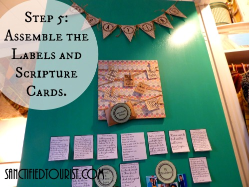 I want to show you how I found a space to pray in my small house after watching The War Room. See how I created a space on the back of a door and sign up for free printables of the prayer banner, labels, and prayer cards that I use in my time with God.