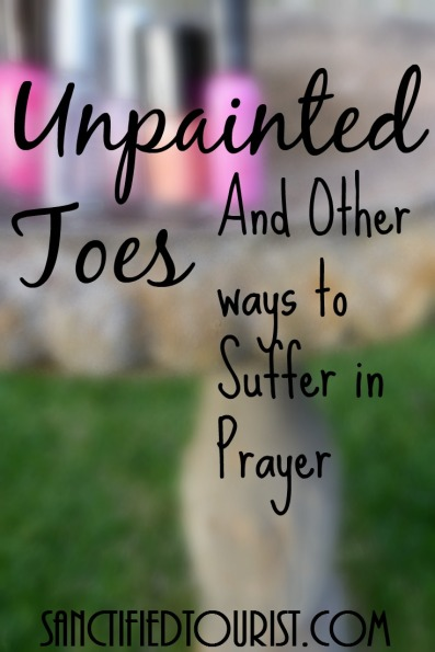 Couldn't fasting be any pleasure we voluntarily abstain from in order to pray? How about unpainted toenails? Free printable with out of the box fasting ideas.
