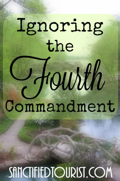 The fourth commandment is not about church attendance it's about rest from work and honoring God with your rest. Isn't it about time you find time to rest?