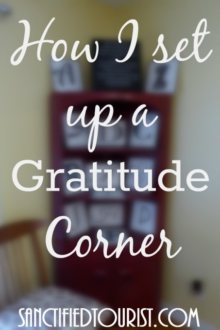 There is an aspect to gratitude that I have been contemplating and that is the remembering of the blessing to others.So using this train of thought, I set up a gratitude corner in my house. I cleared off the knickknacks from my corner cabinet, and replaced them with reminders of our family blessings. Find out how I set up my Gratitude corner.