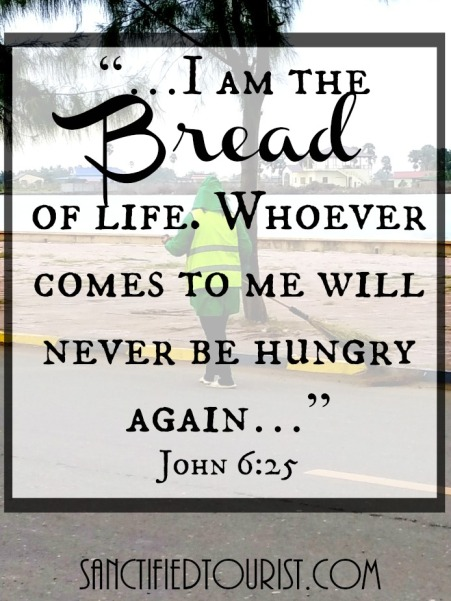 Maybe it's because we, the privileged, lack desperation for literal daily bread that we might not quite get the spiritual message Jesus conveyed when comparing bread to the word of God during His temptation.